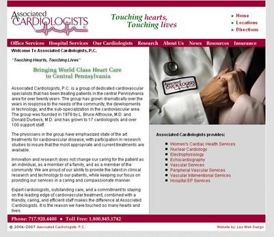Associated Cardiologists web design