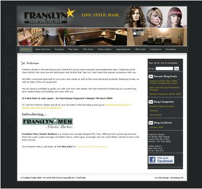 Hair salon website design - Camp Hill, PA