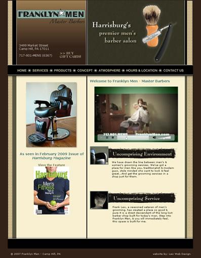 Barbershop website design - Camp Hill, PA