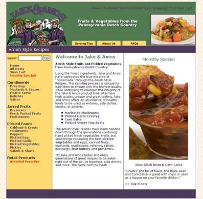 Jake and Amos Ecommerce web design - Lancaster, PA
