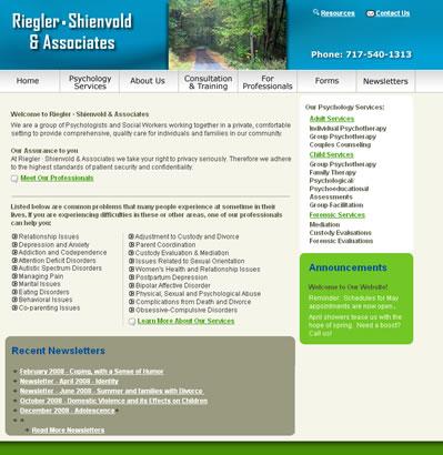 Riegler, Shienvold Associates PA web design