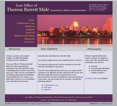 Lawyer web design - Harrisburg, PA